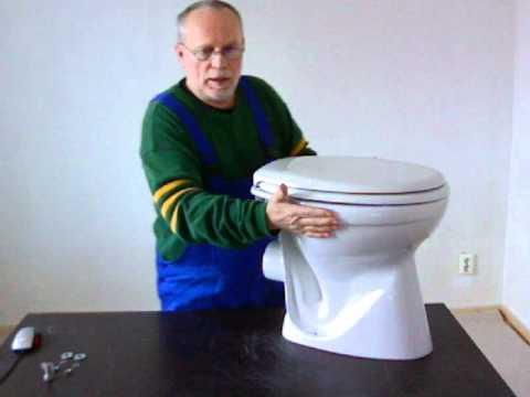 Montageanleitung für einen WC-Sitz