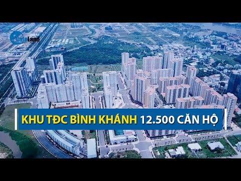 Toàn cảnh khu tái định cư Bình Khánh Quận 2 nhìn từ trên cao