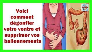 Voici comment dégonfler votre ventre et supprimer vos ballonnements !Ce trouble digestif correspond à une accumulation de gaz dans les intestins, ce qui provoque l'agrandissement de la zone abdominale.Les gaz qui s'accumulent proviennent habituellement de la fermentation de certains aliments dans l'intestin.Causes de gonflement:Le gonflement est causé par une accumulation de gaz dans l'intestin. Cependant, certains facteurs et aliments spécifiques peuvent favoriser l'apparition de ce problème.Les produits laitiers:Les produits laitiers contiennent du lactose, qui est mal digéré par de nombreuses personnes, après une digestion enzymatique à base de lactase insuffisante.Légumes crucifères:Les légumes crucifères, chou, de brocoli ou de chou-fleur sont excellents pour la santé, mais ils sont également connus pour provoquer des ballonnements.Les légumes secs:Les légumes contiennent du gaz à de nombreuses personnes. Ils contiennent de grandes quantités d'oligosaccharides de fructose formés de molécules qui augmentent la production de gaz pendant la digestion.Les sodas:Ceux-ci appréciés pour leur saveur et leurs boissons sucrées au gaz, sont l'ennemi de la santé !Comment soulager les ballonnements naturellement ?fenouil:Le fenouil est l'un des remèdes naturels les plus utilisés pour soulager divers problèmes digestifs. En fait, cette nourriture contribue à stimuler la digestion et est particulièrement efficace pour limiter la formation de gaz et réduire les ballonnements.Graines de carvi:Les graines de carvi ont de nombreuses propriétés médicinales, mais sont particulièrement appréciées pour leur antispasmodique, carminative et leur capacité à aider à la digestion.Gingembre:Remède pour tous les maux, le gingembre contribue également à améliorer la digestion et à atténuer de nombreux problèmes digestifs tels que les ballonnements et les gaz intestinaux.persil:Efficace contre le mauvais souffle, pour purifier le corps et réguler le flux menstruel, le persil est également exc