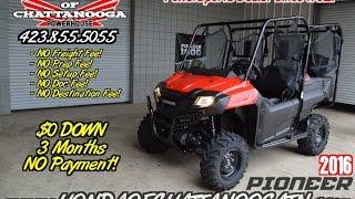 9. 2016 Honda Pioneer 700-4 Start Up + Seat Demo - Side by Side / UTV / SxS / ATV : Chattanooga