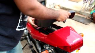 8. How to remove seat and charge the battery on a Honda CB250 NightHawk