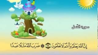 المصحف المعلم للشيخ القارىء محمد صديق المنشاوى سورة النحل كاملة جودة عالية