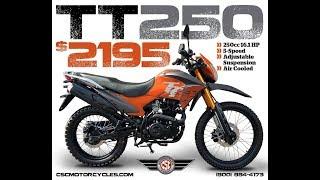 4. CSC TT250 Enduro Walk Around | $2,195 Dual Sport Motorcycle