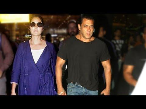 Salman Khan - Katrina Kaif Arrive From Abu Dhabi A
