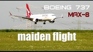 Video Qantas- Boeing 737 MAX-8 RC airplane maiden flight MP3, 3GP, MP4, WEBM, AVI, FLV Agustus 2018