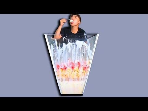 NTN - Thử Ăn Hoa Quả Dầm Sữa Chua Trong Cốc Khổng Lồ (Eating giant Fruity yogurt cup) - Thời lượng: 21:21.