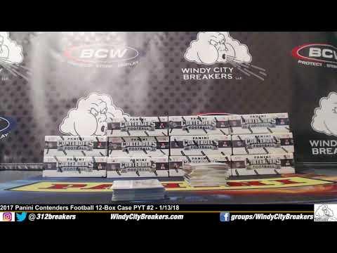 2017 Panini Contenders Football 12-Box Case PYT #2- 1/13/18- Fournette + Kamara + Wentz+Ingram+More