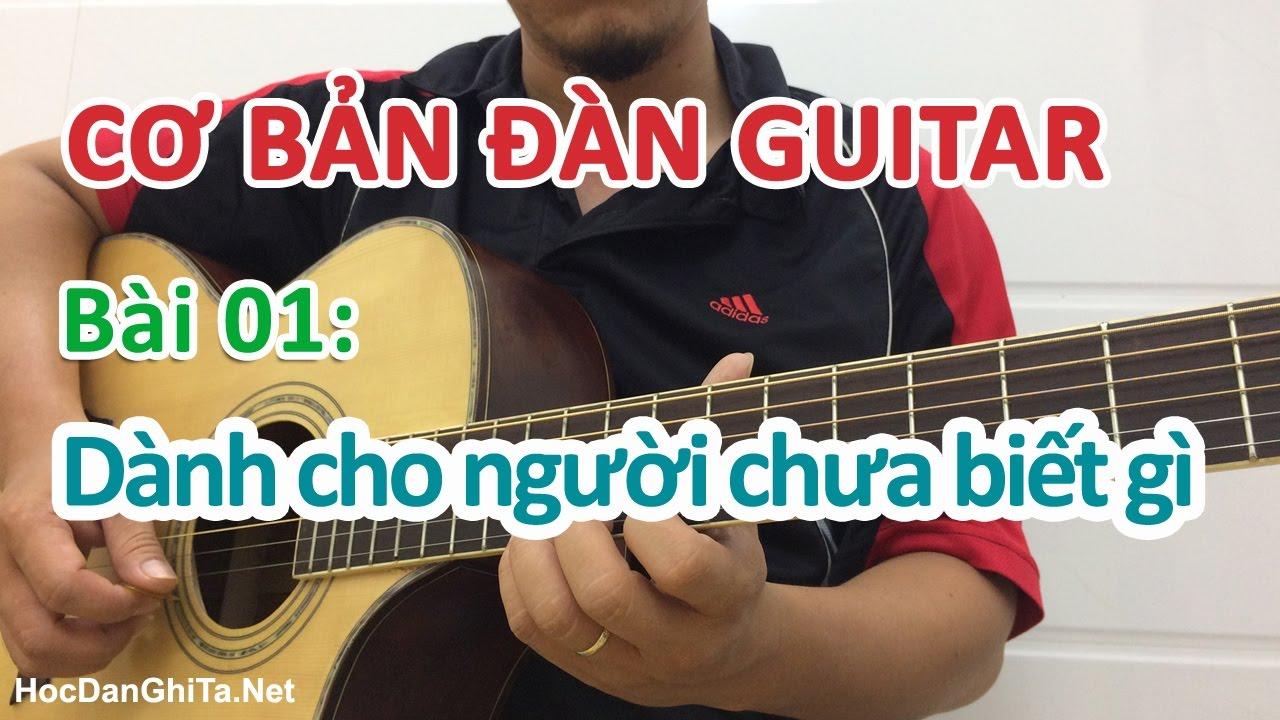 Bài 1: Đàn guitar và những điều cơ bản nhất – Cơ bản cho người mới học đàn guitar
