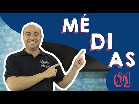 MÉDIAS ARITMÉTICA, GEOMÉTRICA E HARMÔNICA  01/02- Curso de matemática GRÁTIS, COMPLETO e EXERCÍCIOS