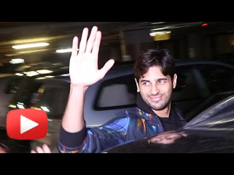 Sidharth Malhotra Returns From Dream Team Tour | M
