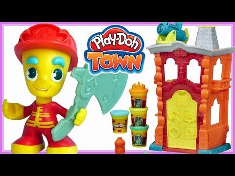 Play doh Town • REMIZA STRAŻACKA • Bałagan u Strażaków • bajki dla dzieci
