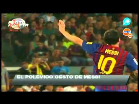 messi humilla a mourinho (видео)