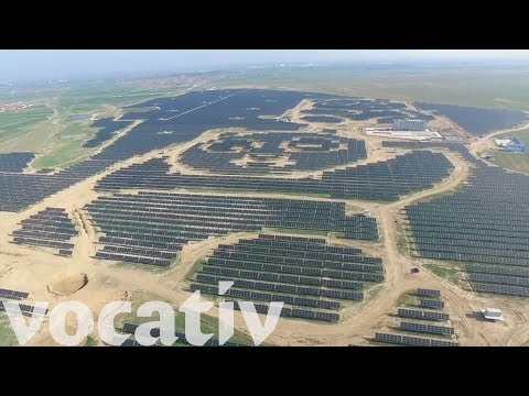 Հսկայական պանդայի տեսքով արևային կայան Չինաստանում
