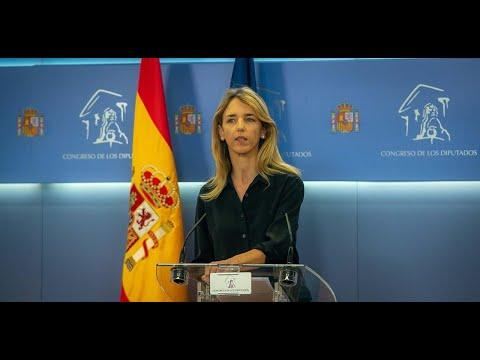 Cayetana Álvarez de Toledo, tras la Junta de Porta...