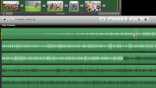 Editing audio clips in iMovie with clip trimmer