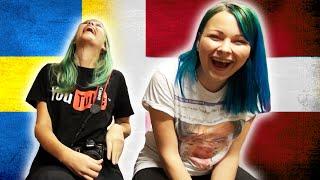 En svensk tjej försöker att prata danska, medan en dansk tjej försöker prata svenska. Filmat på Malmö Youtube Gathering 2014. Victoria: https://www.youtube.c...