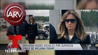 Revuelo en redes por supuesta doble de Melania Trump | Al Rojo Vivo