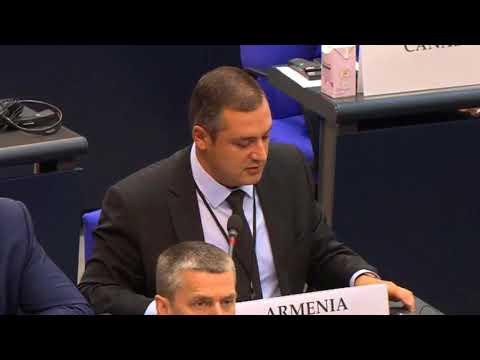 \Азербайджан готовится начать войну и применить оружие\. Заявление Тиграна Уриханяна на ПА ОБСЕ