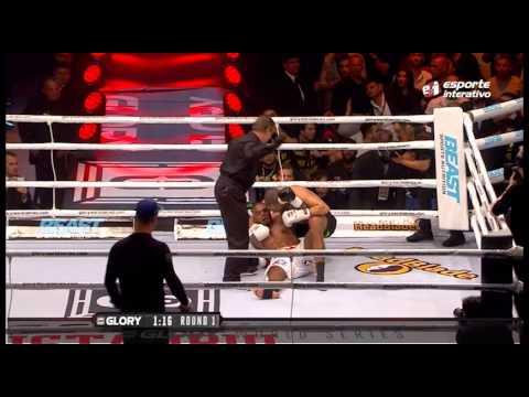 Tyrone Spong quebra a perna ao estilo Anderson Silva e perde final pelo Glory 15