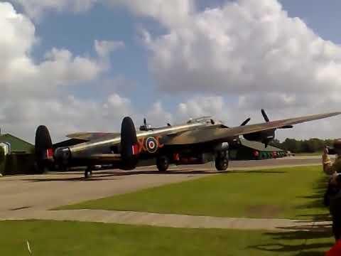Avro Lancaster PA474 flypast of NX611 taxy run