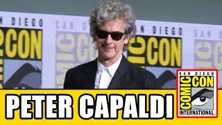 Doctor Who's Peter Capaldi gets standing ovation & gives speech at Doctor Who Comic Con Panel.Subscribe for more! ► http://bit.ly/FlicksSubscribeN.B. Footage, clips, previews, trailers & sneak peeks shown at Comic Con panels are not included in this video, as these are not allowed to be filmed. RELATED VIDEOS--------------Doctor Who Season 11 Comic Con Panel ► http://youtu.be/a3tq5kIuHEwDoctor Who Season 9 Comic Con Panel ► http://youtu.be/Cv86g1-cO-4PLAYLISTS YOU MIGHT LIKE------------------------Marvel ► http://bit.ly/MarvelVideosFox Marvel Movies ► http://bit.ly/FoxMarvelVideosDC ► http://bit.ly/DCVideosMovie Deleted Scenes & Rejected Concepts ► http://bit.ly/MovieDeletedScenesEaster Eggs ► http://bit.ly/EasterEggVideosAmazing Movie Facts ► http://bit.ly/ThingsYouDidntKnowVideosPixar ► http://bit.ly/PixarVideosDisney Animation ► http://bit.ly/DisneyAnimationVideosStar Wars ► http://bit.ly/StarWarsVidsSOCIAL MEDIA & WEBSITE----------------------Twitter ► http://twitter.com/FlicksCityFacebook ► http://facebook.com/FlicksAndTheCityGoogle+ ► http://google.com/+FlicksAndTheCityWebsite ► http://FlicksAndTheCity.comThanks to Comic Con International http://www.comic-con.org/BBC America's Doctor Who returns to San Diego Comic-Con for the final Hall H panel with star Peter Capaldi. Fans will have an exclusive sneak peek of the upcoming Doctor Who Christmas Special—the final episode starring Peter Capaldi as the Doctor and written by Emmy Award-winning lead writer and executive producer Steven Moffat. Join Peter Capaldi (the Doctor), Pearl Mackie (Bill), Matt Lucas (Nardole), Michelle Gomez (Missy), writer and actor Mark Gatiss (Sherlock), and showrunner Steven Moffat (Sherlock) for a panel moderated by Chris Hardwick that will celebrate Christmas in July and share one last look back at their time with the iconic global hit series with fans. Watch the entire critically acclaimed new season of Doctor Who now on BBCAmerica.com, BBC America App, and On Demand.