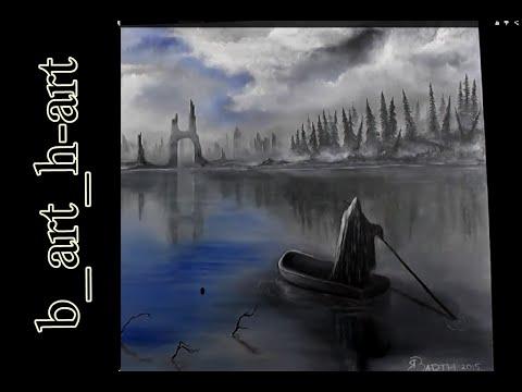 Malen mit Acryl : Fantasy- Landschaft