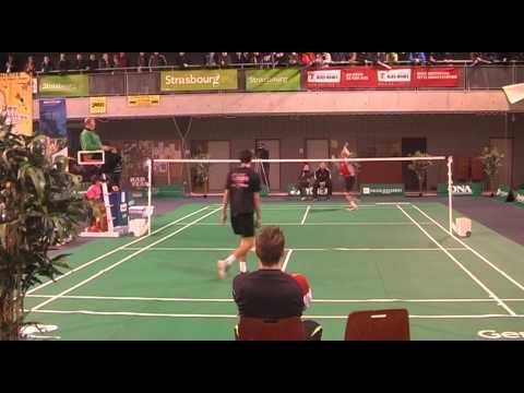 Riktigt snygg blockering i Badminton
