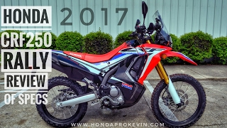 2. 2017 Honda CRF250 RALLY Review of Specs | CRF 250 Adventure / Dual-Sport Motorcycle | CRF250LR