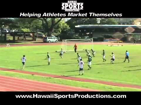 Mountan Mitchell, #9, Soccer Highlights, Punahou School, Class of 2011, (видео)