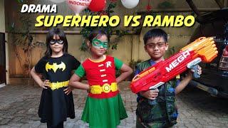 Video Drama Superhero Lucu : Robin Girl & Bat Girl VS Rambo MP3, 3GP, MP4, WEBM, AVI, FLV November 2018