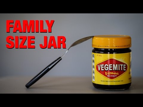 Vegemite eating challenge... bad idea