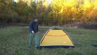 Трехместная туристическая палатка  с повышенной ветроустойчивостью. Alexika Nakra 3