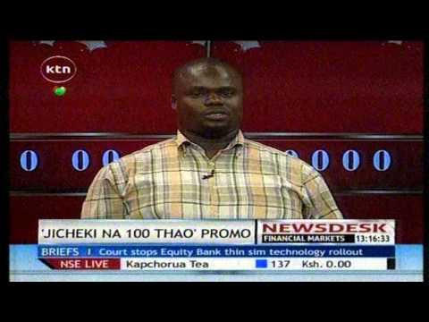 Okeyo - John Okeyo is the latest winner of one hundred thousand shillings in the countrywide promotion dubbed 'Jicheki na 100 thao kila siku' Watch KTN Live http://www.ktnkenya.tv/live Follow...