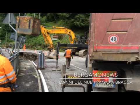 La strada crollata ad Algua