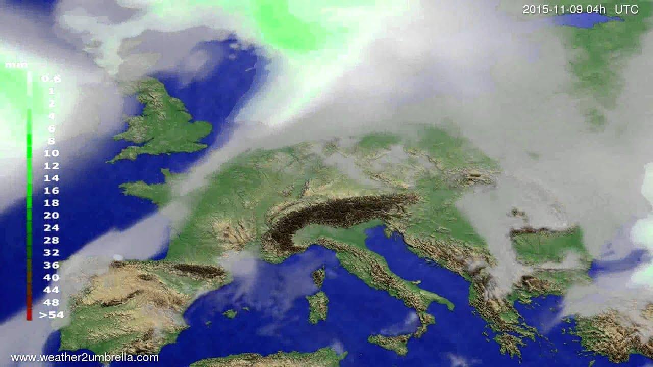 Precipitation forecast Europe 2015-11-05