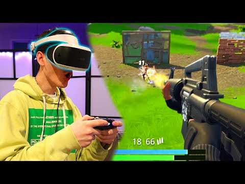FORTNITE IN FIRST PERSON! Fortnite: Battle Royale In VR! (First Person Mode) | David Vlas