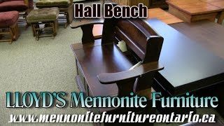 Mennonite Hall Bench