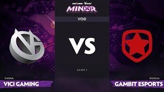 [EN] Vici Gaming vs Gambit, Game 1, StarLadder ImbaTV Dota 2 Minor, Group Stage