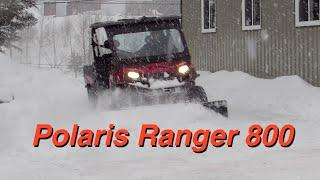 2. Polaris Ranger 800 Plowing Snow