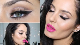 Glitter Cut Crease with Pink Lip! Eid Makeup Tutorial \\ ChloeMorello by Chloe Morello