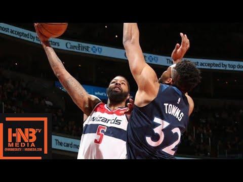 Minnesota Timberwolves vs Washington Wizards Full Game Highlights / March 13 / 2017-18 NBA Season (видео)