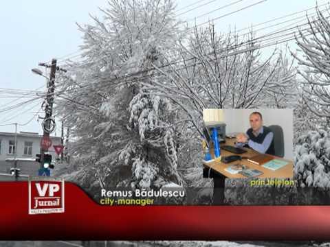 Prima zăpadă în Câmpina