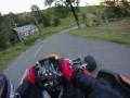 Montée d'un col, en kart 125cc à boîte, moteur TM K9b, filmé en GoPro fixée sur le casque... Test vibrations, son etc etc...