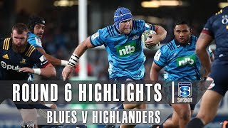 Blues v Highlanders Rd.6 2019 Super rugby video highlights | Super Rugby Video Highlights