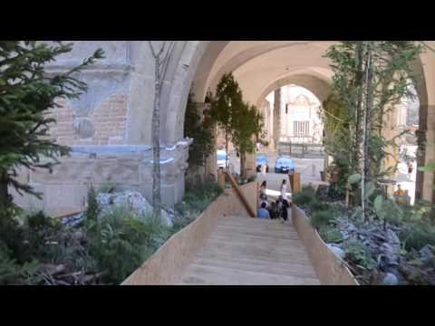 A passeggio sulla Piazza Vecchia in verde col paesaggista Tischer