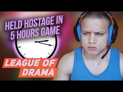 Tyler1 Twitter temp ban! Gross Gore 1 year ban from Riot events! Players held hostage in 5hours Game