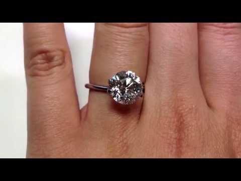 3.20 ct Round Brilliant Cut G SI1 Diamond Solitaire Ring - BigDiamondsUSA