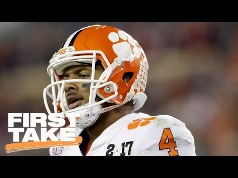 Deshaun Watson Or Mitchell Trubisky: Who Should NFL Teams Draft? | First Take | April 27, 2017 (видео)