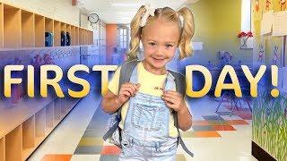 Everleigh's first day of Kindergarten!!! (SO CUTE)
