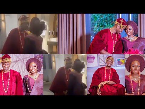Lateef Adedimeji & Bimpe Oyebade Share A Lovely Kiss At Their Secret Traditional Wedding, CONGRATS